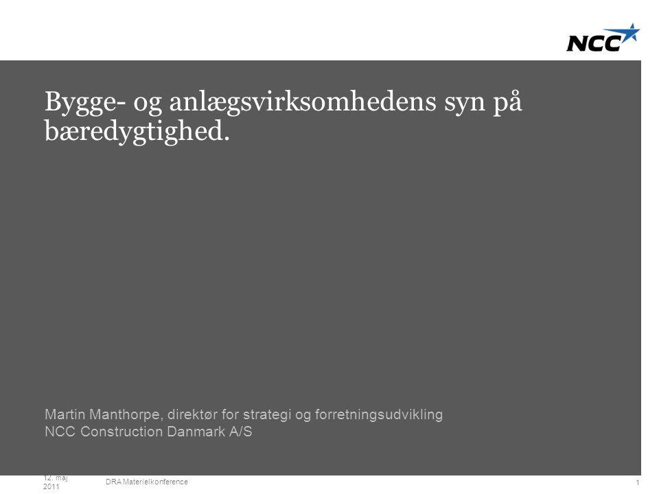 Title slide Dark grey Bygge- og anlægsvirksomhedens syn på bæredygtighed.