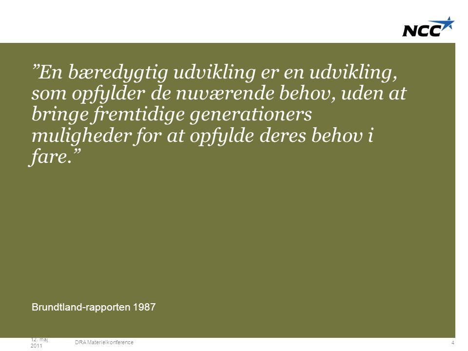 Title slide Moss green En bæredygtig udvikling er en udvikling, som opfylder de nuværende behov, uden at bringe fremtidige generationers muligheder for at opfylde deres behov i fare. Brundtland-rapporten 1987 12.