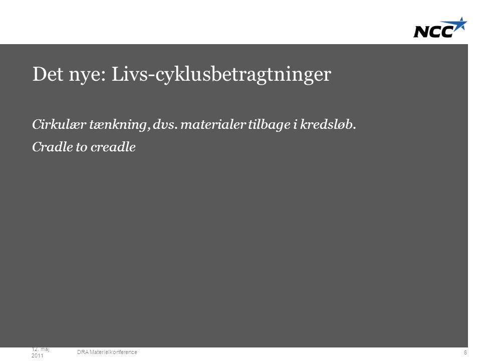 Divider slide Dark grey Det nye: Livs-cyklusbetragtninger Cirkulær tænkning, dvs.