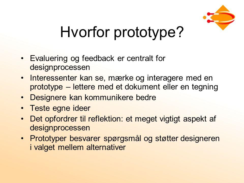 Hvorfor prototype.