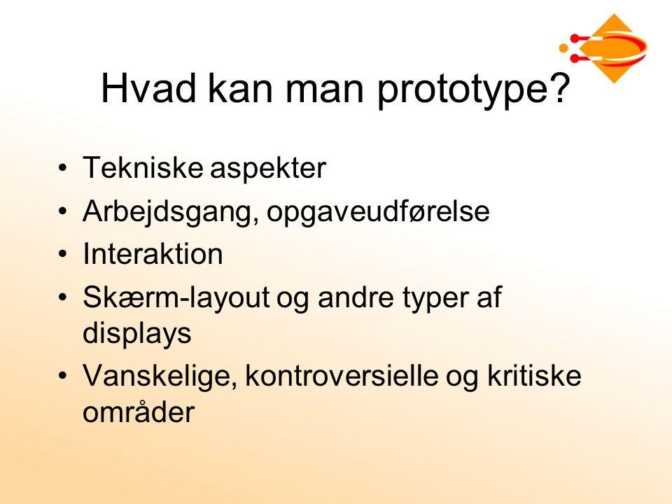 Hvad kan man prototype.
