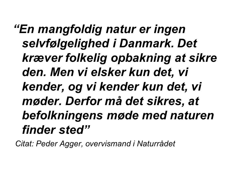 En mangfoldig natur er ingen selvfølgelighed i Danmark.