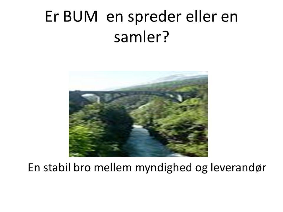 Er BUM en spreder eller en samler En stabil bro mellem myndighed og leverandør