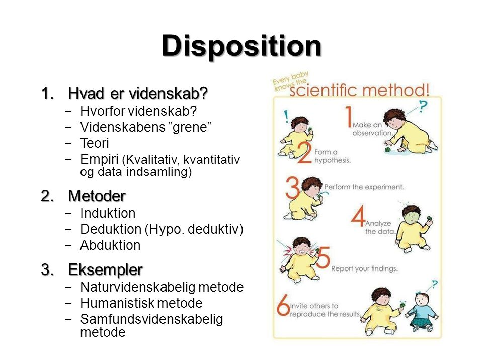 Disposition 1.Hvad er videnskab.‒ Hvorfor videnskab.