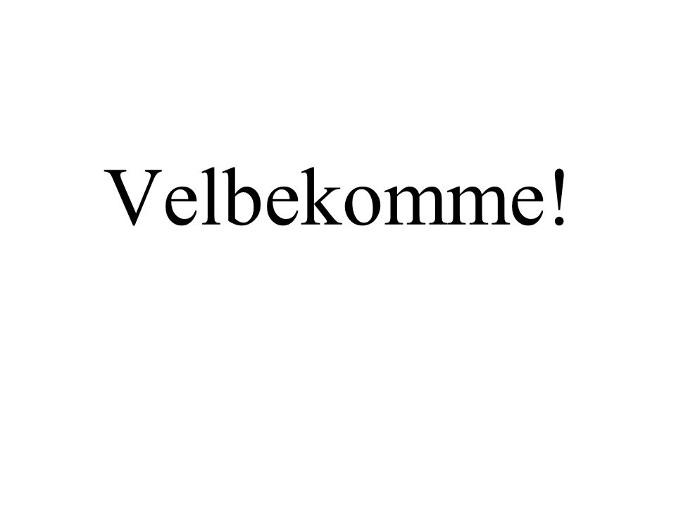 Velbekomme!