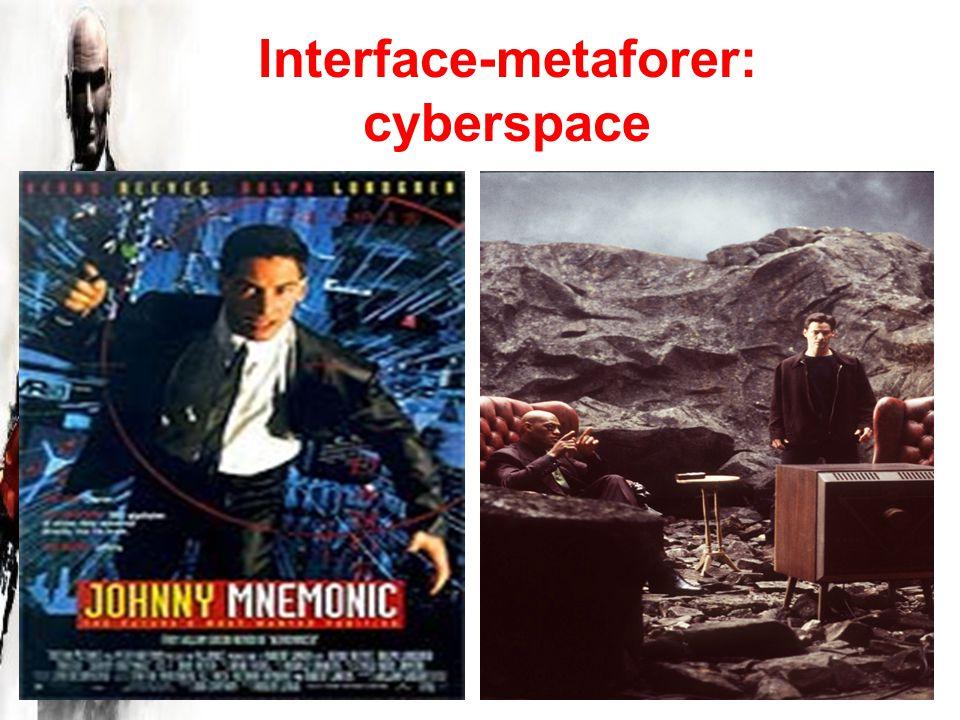 Interface-metaforer: cyberspace