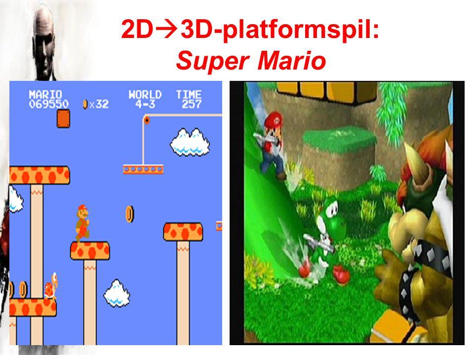 2D  3D-platformspil: Super Mario