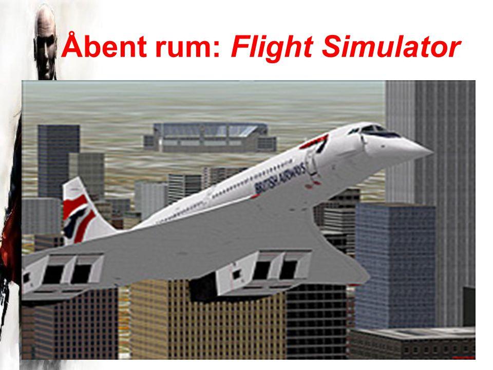 Åbent rum: Flight Simulator