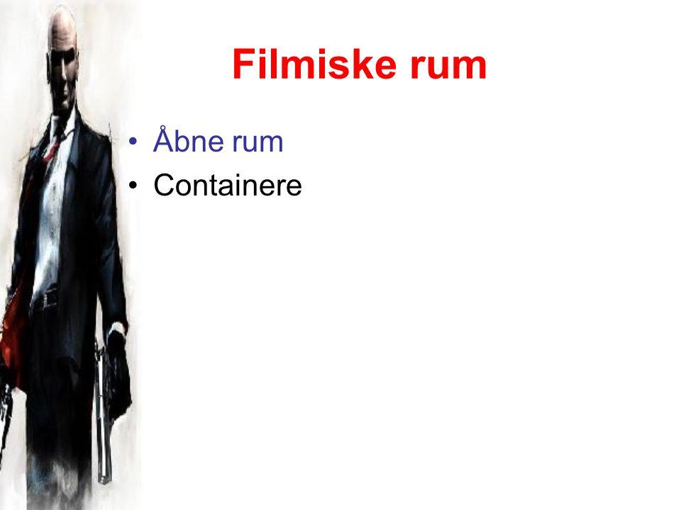Filmiske rum Åbne rum Containere
