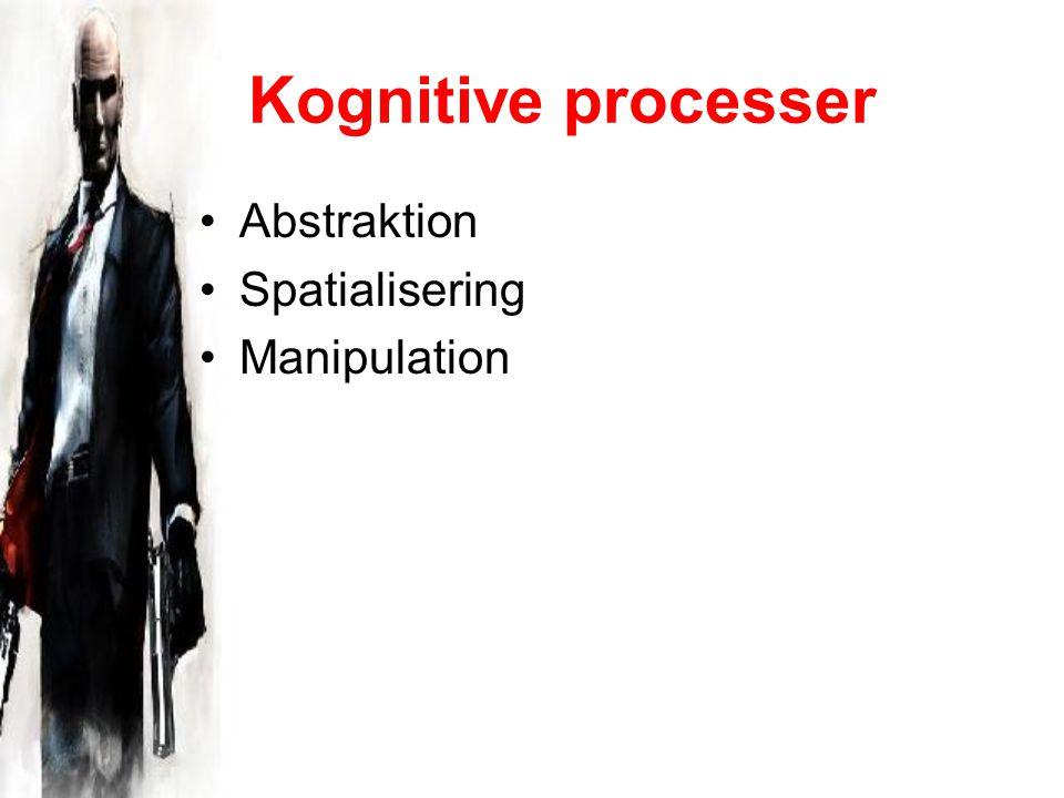 Kognitive processer Abstraktion Spatialisering Manipulation