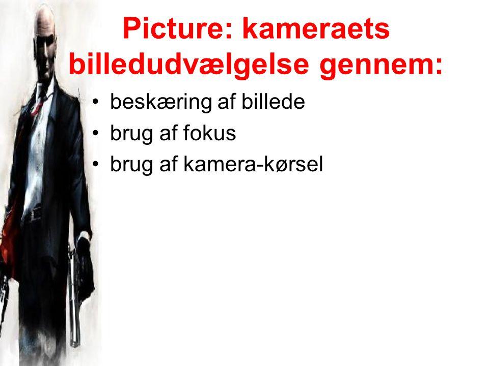 Picture: kameraets billedudvælgelse gennem: beskæring af billede brug af fokus brug af kamera-kørsel
