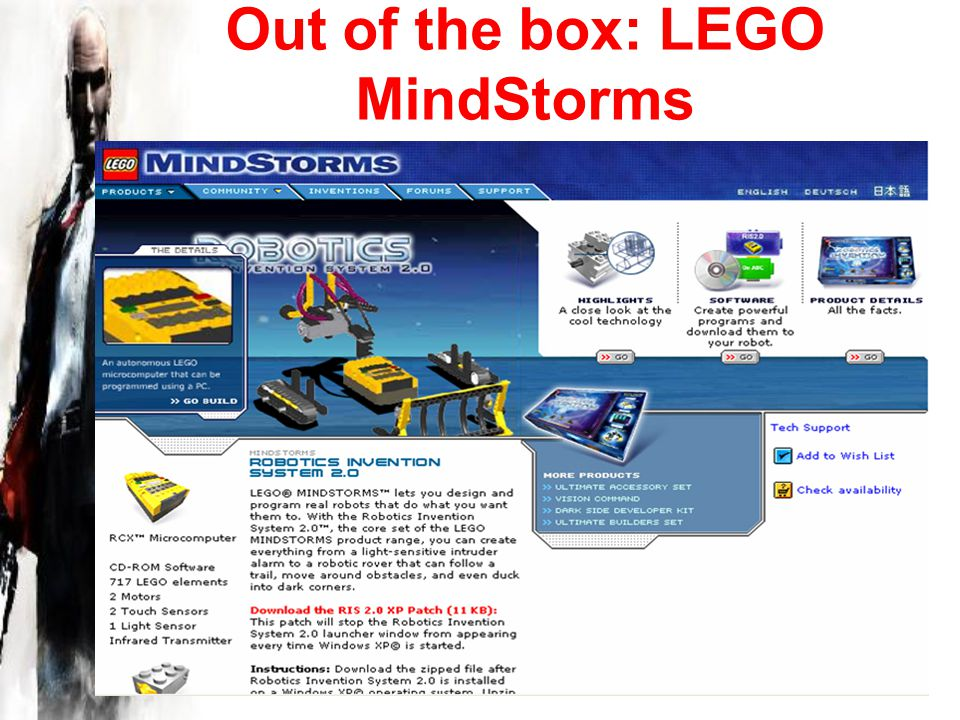 Out of the box: LEGO MindStorms
