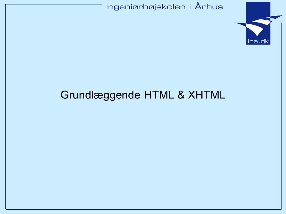 Grundlæggende HTML & XHTML