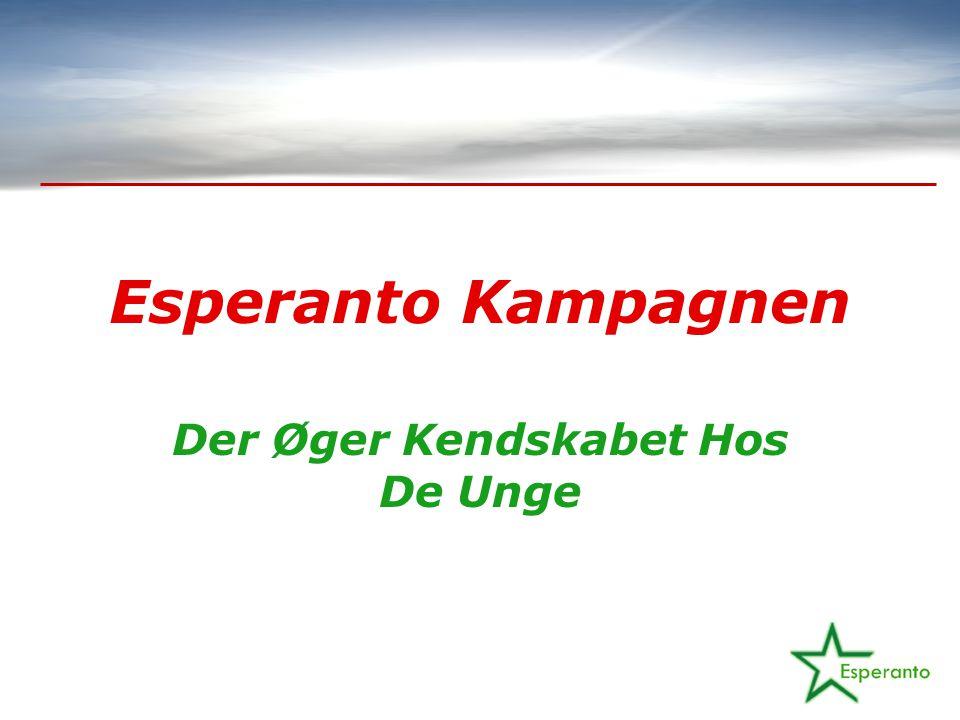 Esperanto Kampagnen Der Øger Kendskabet Hos De Unge