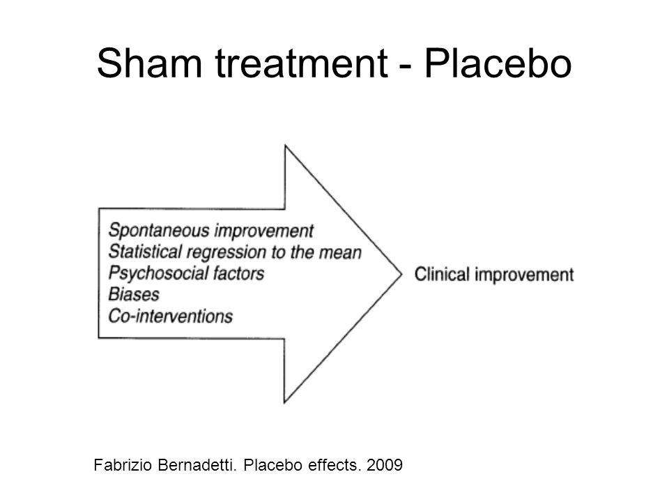 Sham treatment - Placebo Fabrizio Bernadetti. Placebo effects. 2009