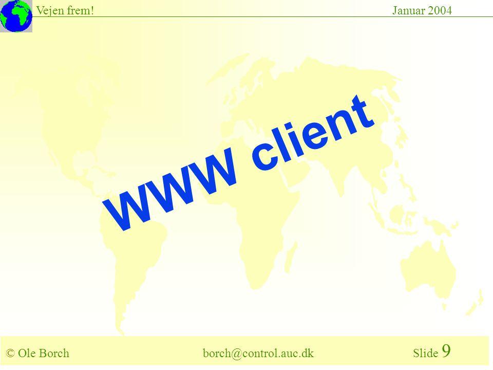 © Ole Borch borch@control.auc.dk Slide 9 Vejen frem!Januar 2004 WWW client