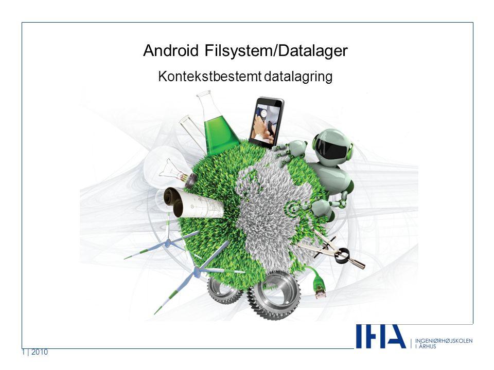 1 | 2010 Android Filsystem/Datalager Kontekstbestemt datalagring