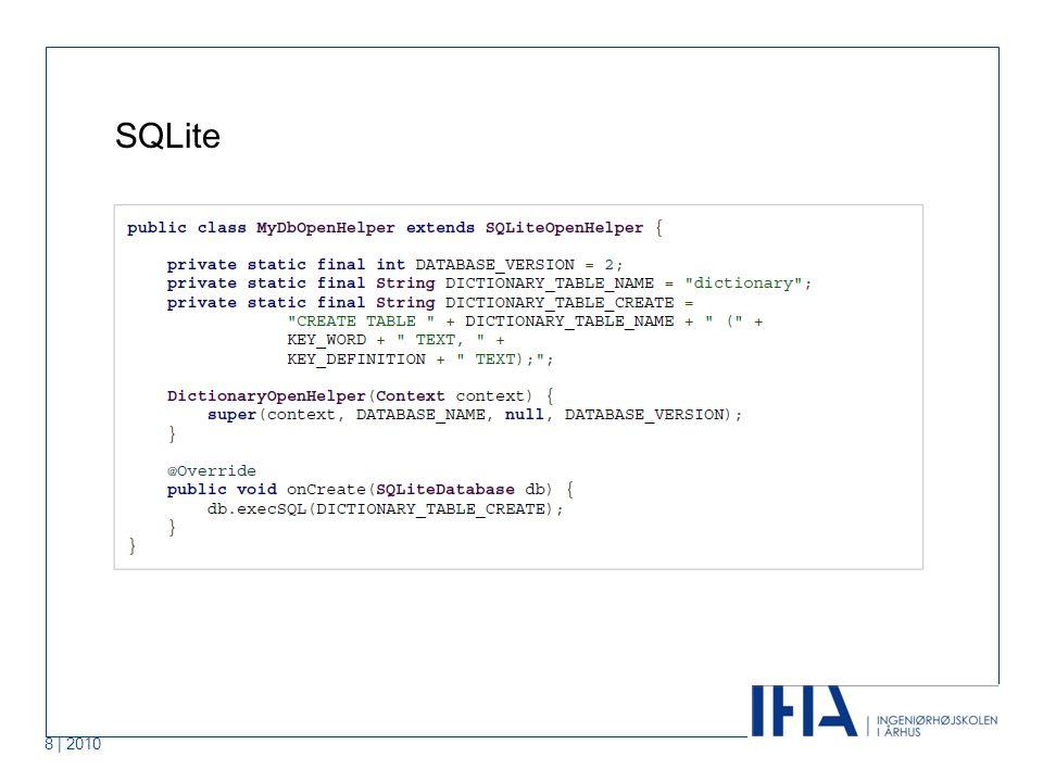 8 | 2010 SQLite Punkt 1 Punkt 2