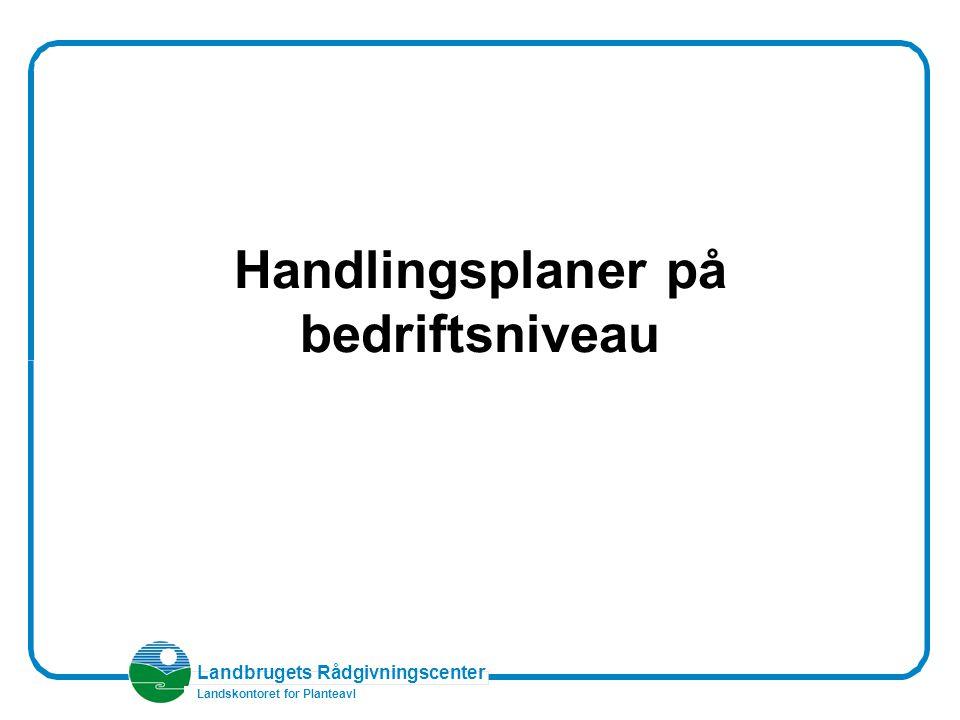 Landbrugets Rådgivningscenter Landskontoret for Planteavl Handlingsplaner på bedriftsniveau