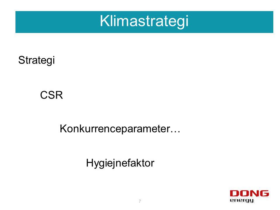 Klimastrategi 7 CSR Konkurrenceparameter… Strategi Hygiejnefaktor