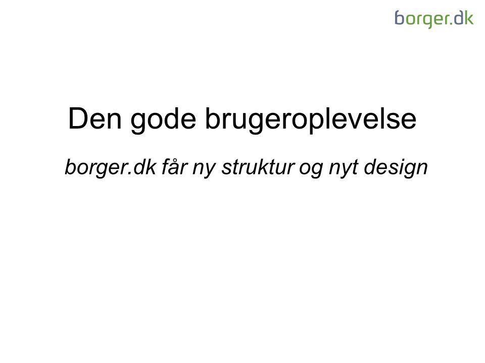 Den gode brugeroplevelse borger.dk får ny struktur og nyt design