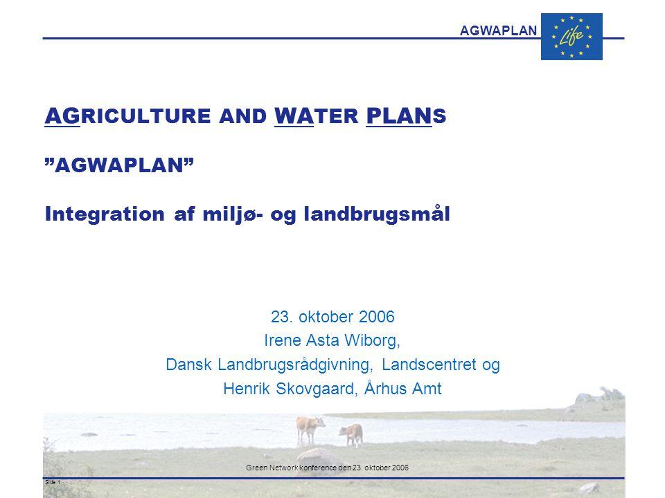 AGWAPLAN Green Network konference den 23.