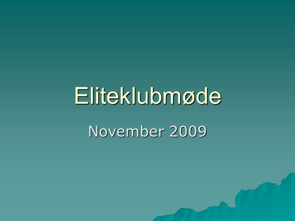 Eliteklubmøde November 2009