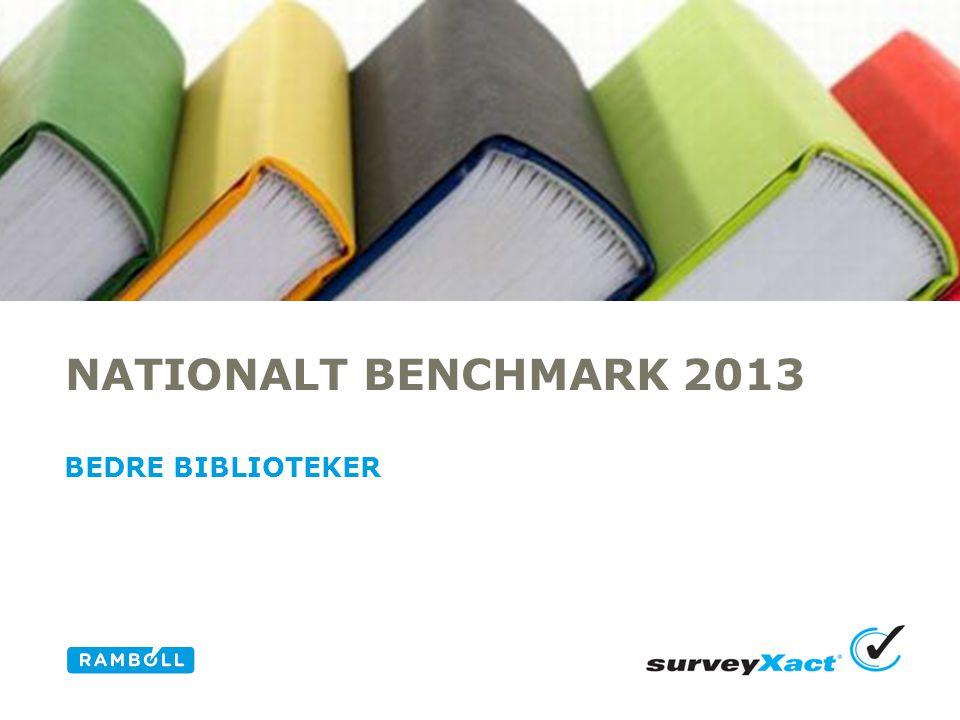 NATIONALT BENCHMARK 2013 BEDRE BIBLIOTEKER Alternative title slide