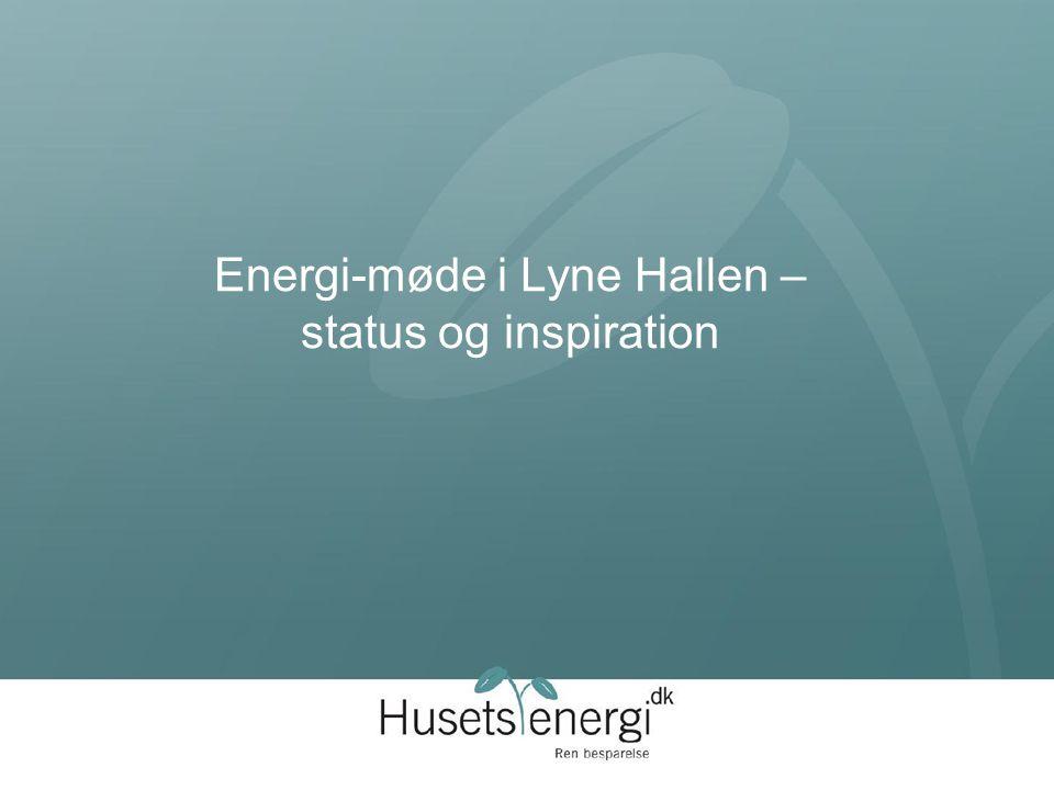 Energi-møde i Lyne Hallen – status og inspiration