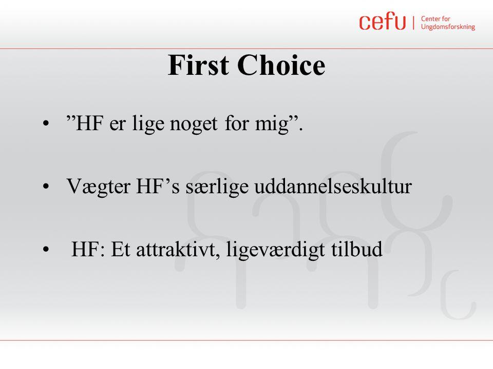 First Choice HF er lige noget for mig .