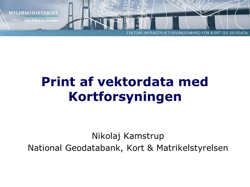 Print af vektordata med Kortforsyningen Nikolaj Kamstrup National Geodatabank, Kort & Matrikelstyrelsen