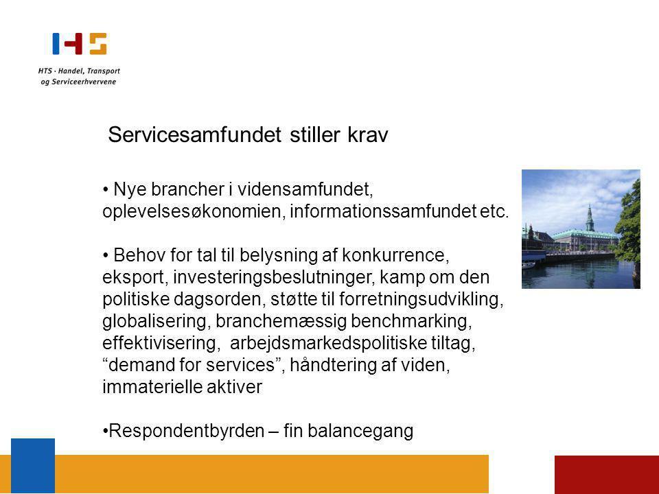 Servicesamfundet stiller krav Nye brancher i vidensamfundet, oplevelsesøkonomien, informationssamfundet etc.