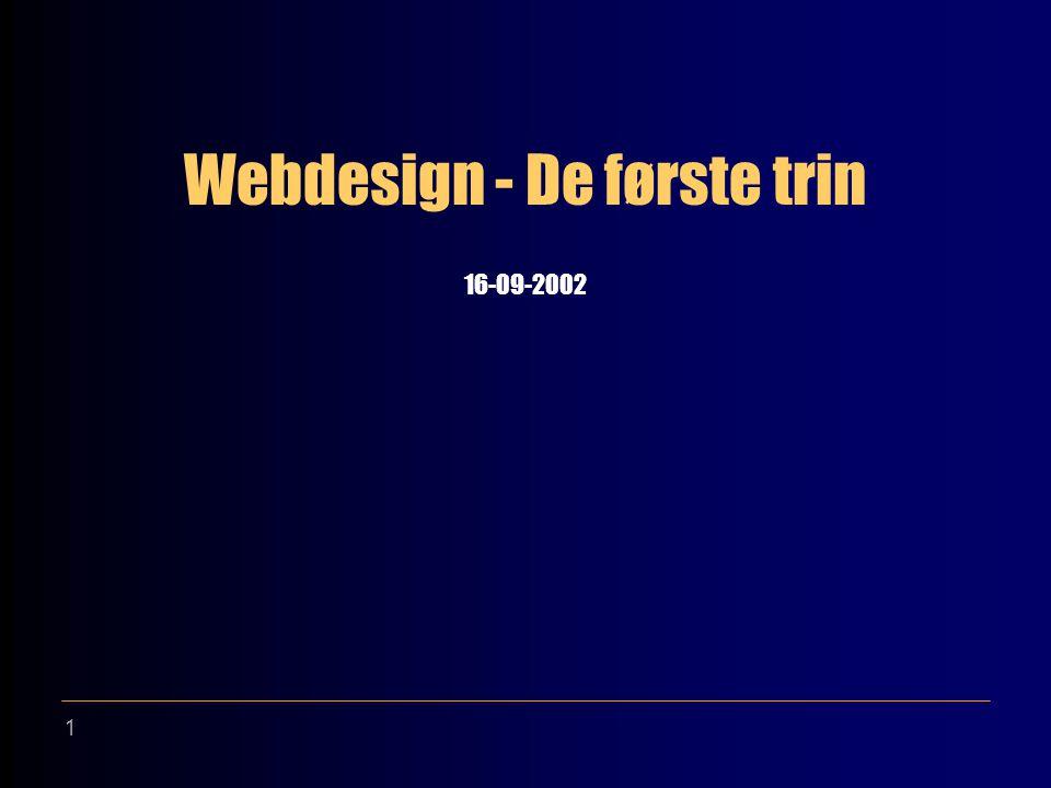 1 Webdesign - De første trin 16-09-2002