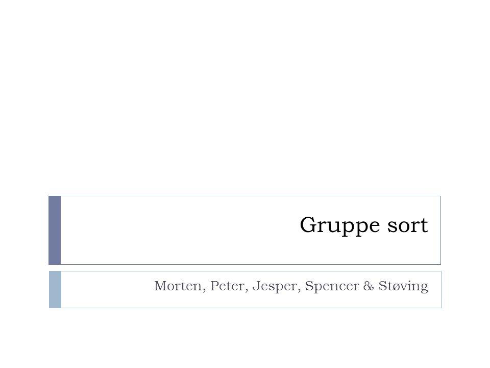 Gruppe sort Morten, Peter, Jesper, Spencer & Støving