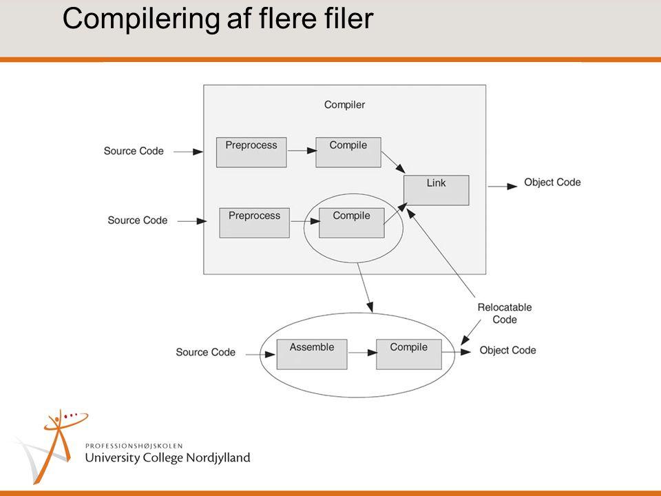 Compilering af flere filer