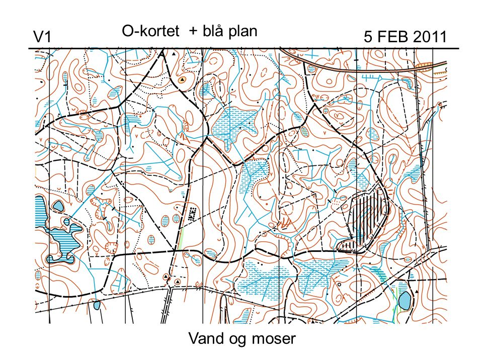 Vand og moser V1 5 FEB 2011 O-kortet + blå plan