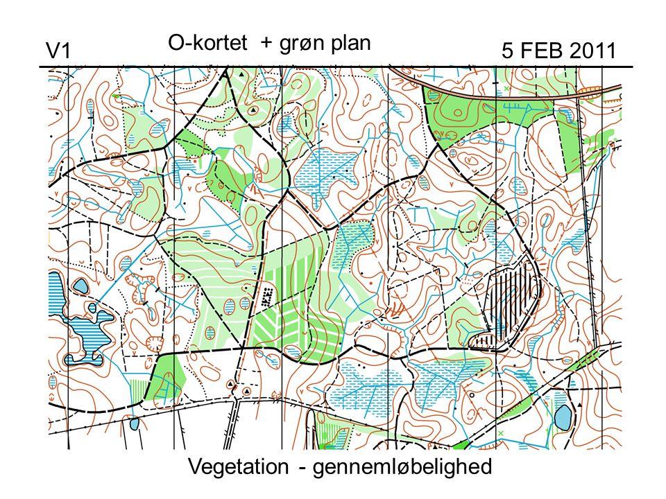 Vegetation - gennemløbelighed V1 5 FEB 2011 O-kortet + grøn plan