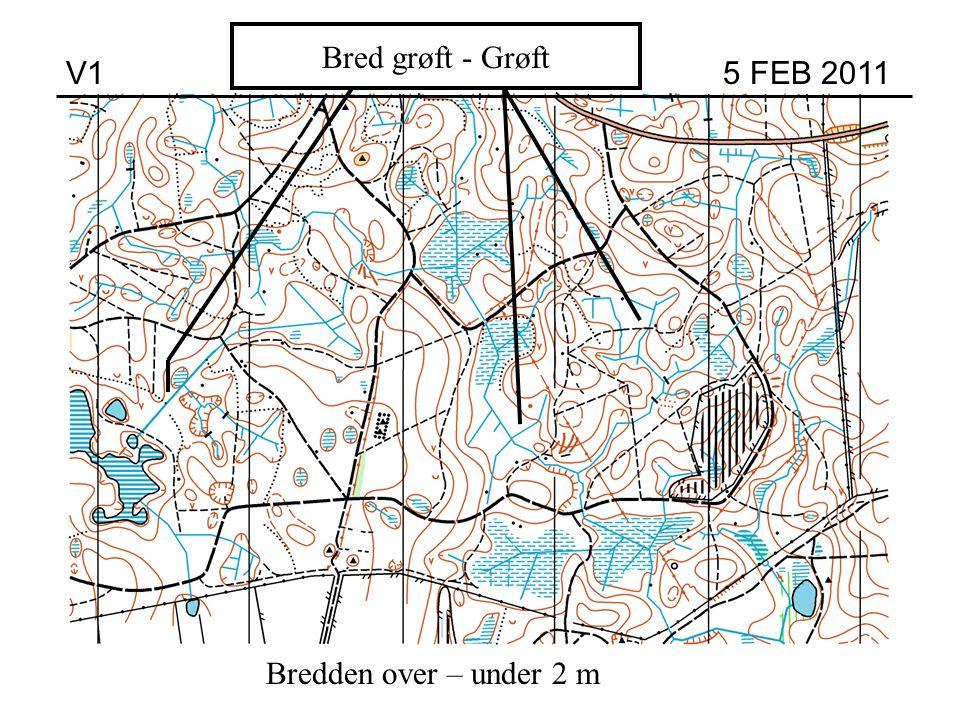Høj Bred grøft - Grøft V1 5 FEB 2011 Bredden over – under 2 m