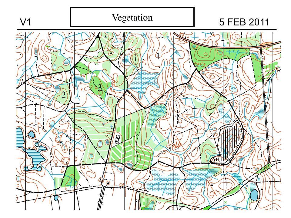 V1 5 FEB 2011 Vegetation 3 2 1