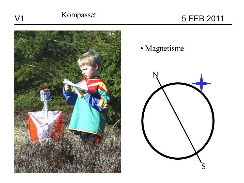 V1 5 FEB 2011 Kompasset Magnetisme N S