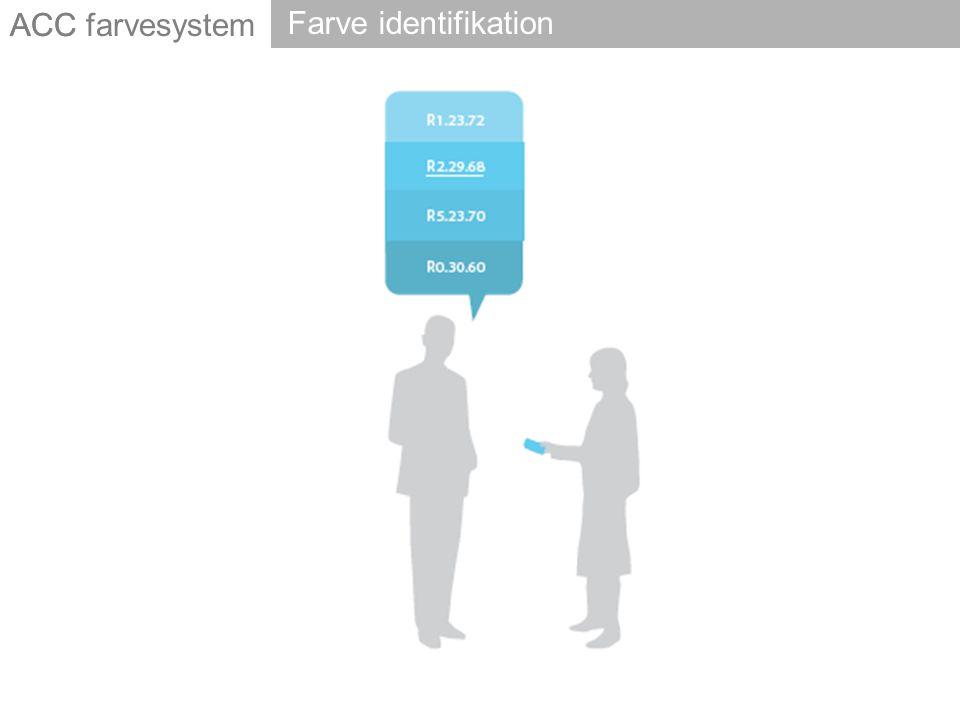 ACC Farve identifikation ACC farvesystem