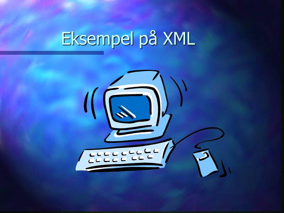 Eksempel på XML