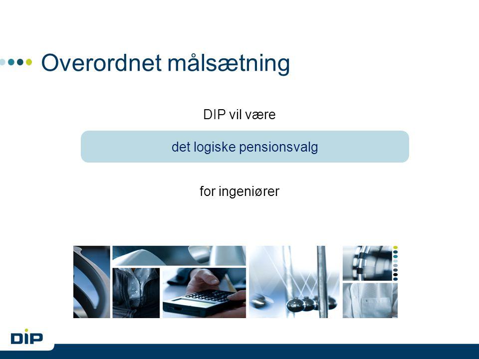 Overordnet målsætning DIP vil være for ingeniører det logiske pensionsvalg