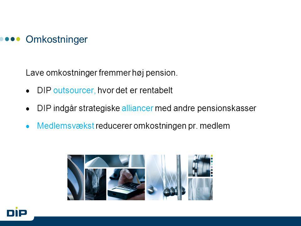 Omkostninger Lave omkostninger fremmer høj pension.