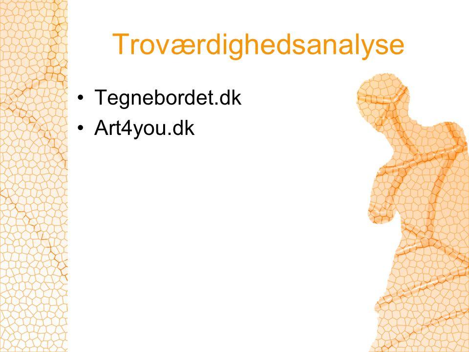 Troværdighedsanalyse Tegnebordet.dk Art4you.dk