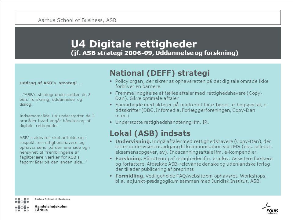 Aarhus School of Business, ASB U4 Digitale rettigheder (jf.