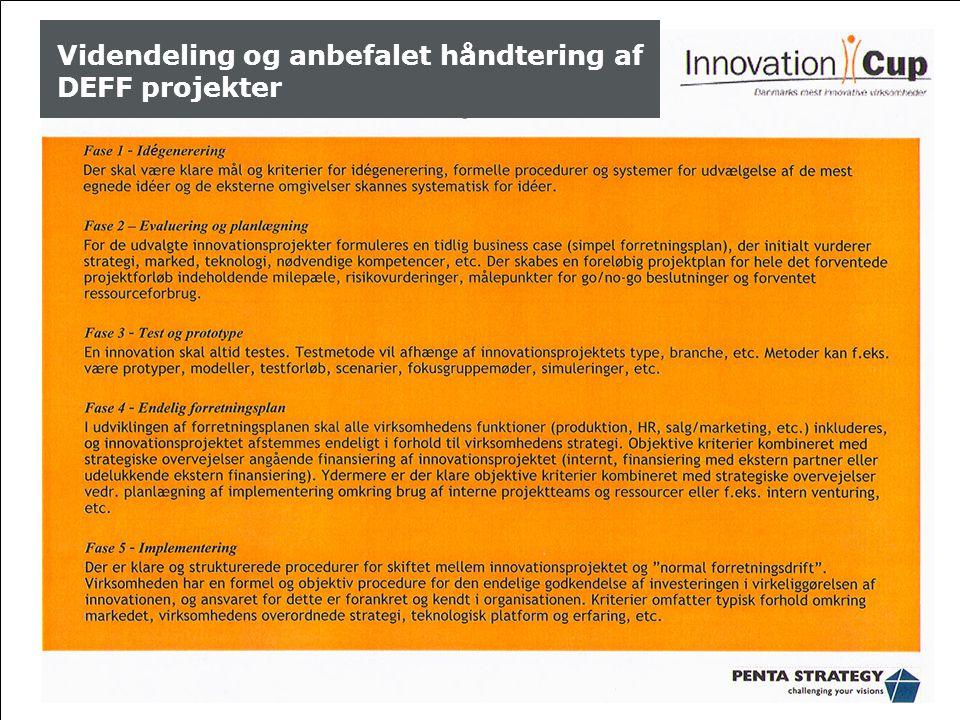 Aarhus School of Business, ASB Videndeling og anbefalet håndtering af DEFF projekter