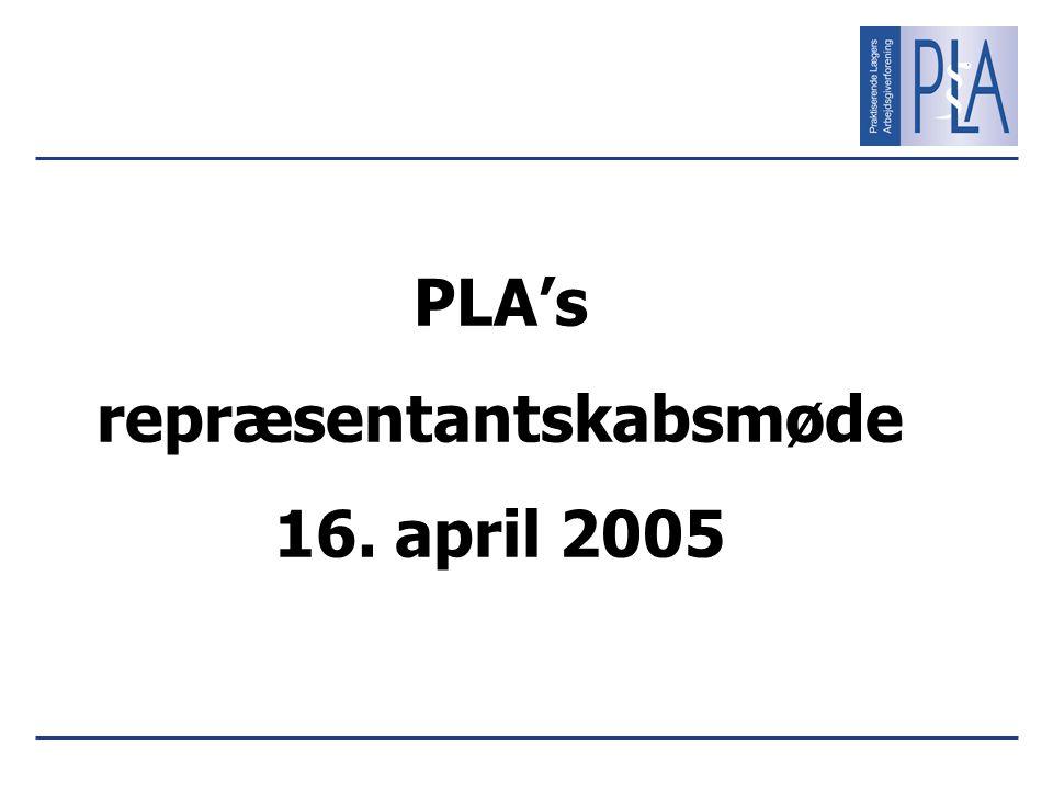 PLA's repræsentantskabsmøde 16. april 2005