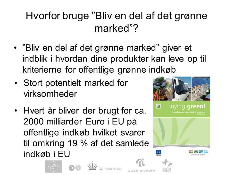 Hvorfor bruge Bliv en del af det grønne marked .