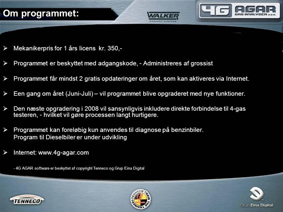  Mekanikerpris for 1 års licens kr.